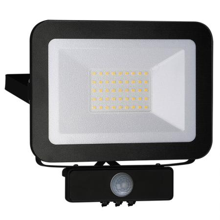 LED HQ reflektor 30W+PIR IP65 senzor/4000K/BK/PS - LF2023S